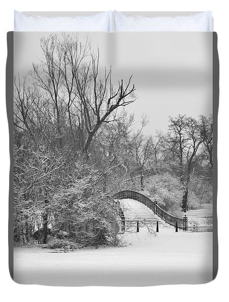 The Winter White Wedding Bridge Duvet Cover