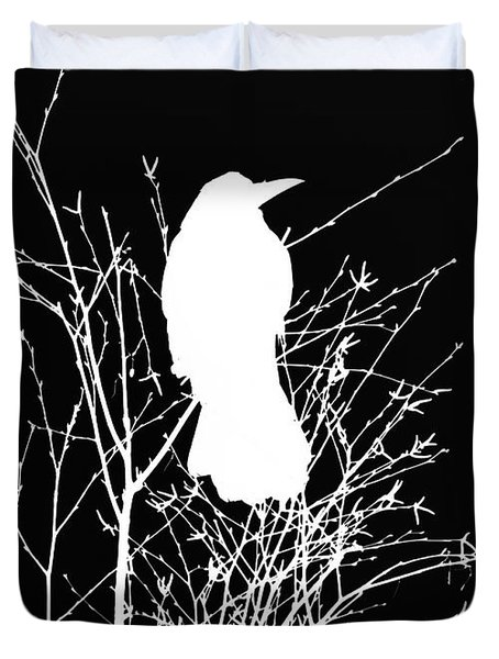 The Wisdom Of Crow Duvet Cover