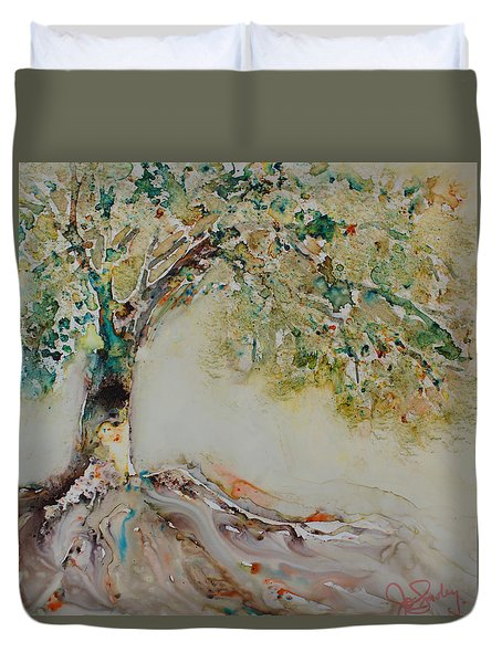 The Wisdom Tree Duvet Cover by Joanne Smoley