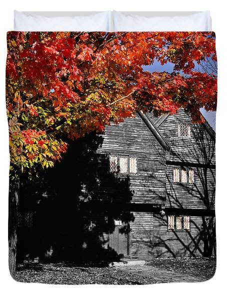 The Witch House In Autumn Duvet Cover