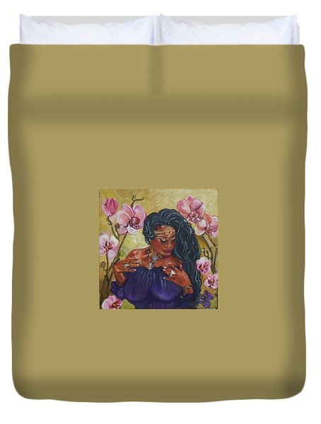 The Witch - Orchid's Whisper Duvet Cover