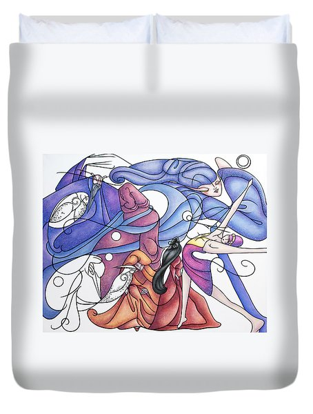 The Wizards Daughter Duvet Cover