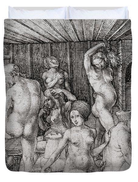The Women's Bath, 1496 Duvet Cover