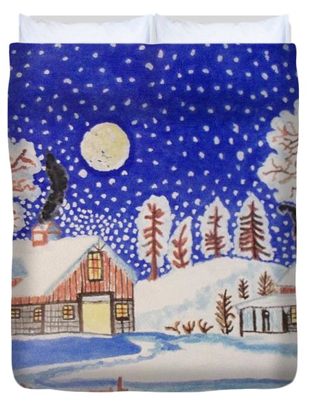 The Wonder Of Winter Duvet Cover by Connie Valasco