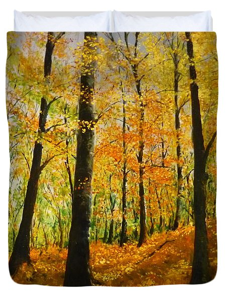 The Wood For The Trees Duvet Cover by Lizzy Forrester