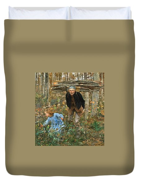 The Wood Gatherer Duvet Cover