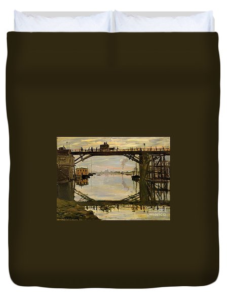 The Wooden Bridge Duvet Cover by Monet