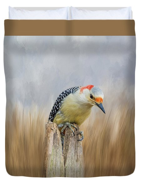 The Woodpecker Duvet Cover