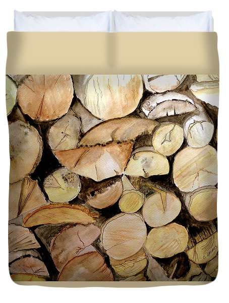 The Woodpile Duvet Cover