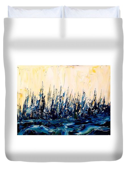The Woods - Blue No.2 Duvet Cover
