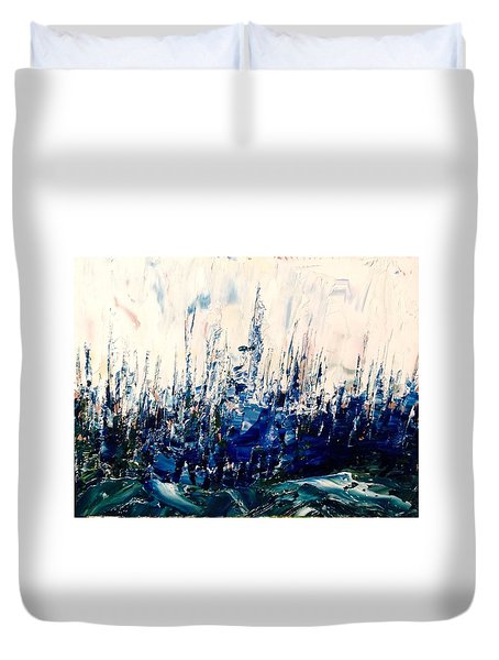 The Woods - Blue No.3 Duvet Cover