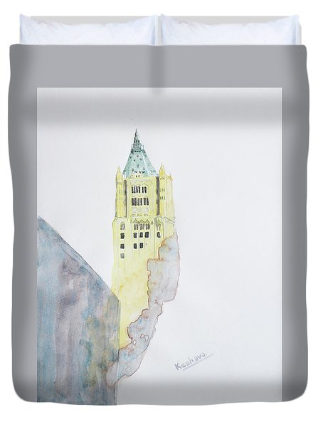 The Woolworth Building Duvet Cover by Keshava Shukla