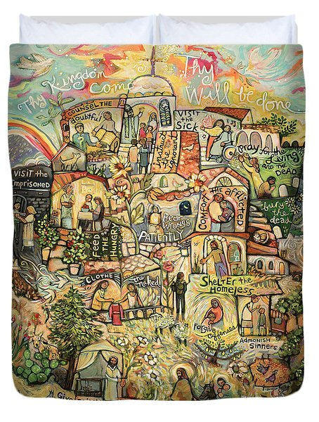 The Works Of Mercy Duvet Cover