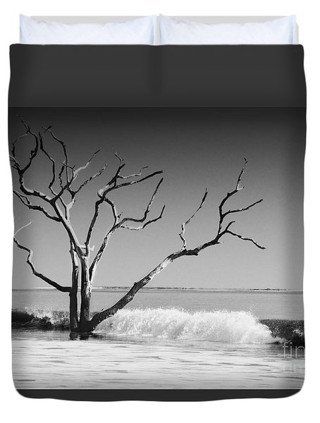 Duvet Cover featuring the photograph The World Is Coming Down II by Dana DiPasquale