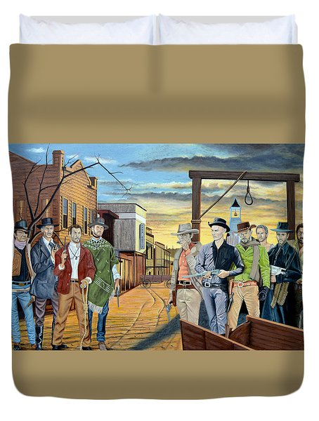 The World Of Classic Westerns Duvet Cover by Tony Banos