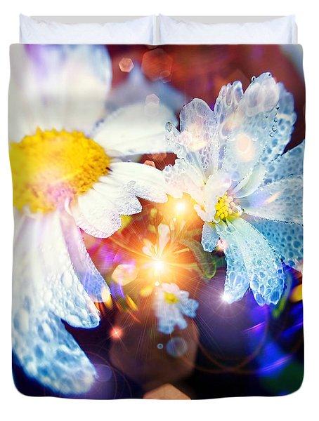 The World Of Dancing Flowers Duvet Cover by Mikko Tyllinen