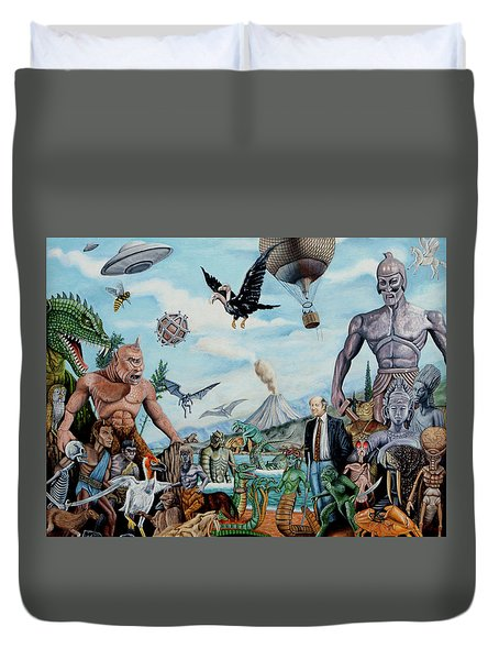 The World Of Ray Harryhausen Duvet Cover