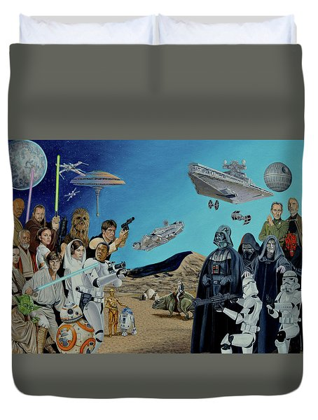 The World Of Star Wars Duvet Cover by Tony Banos
