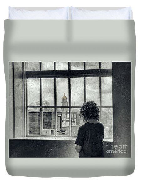 The World Outside My Window Duvet Cover by Laurinda Bowling