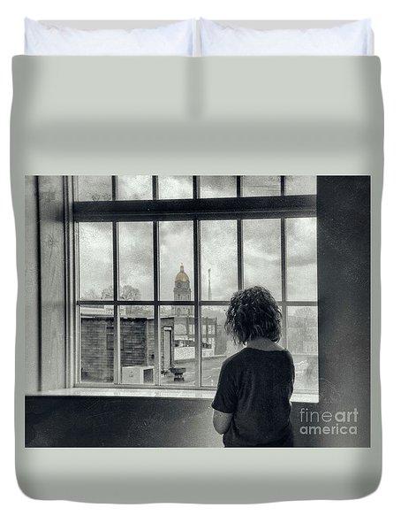 The World Outside My Window Duvet Cover