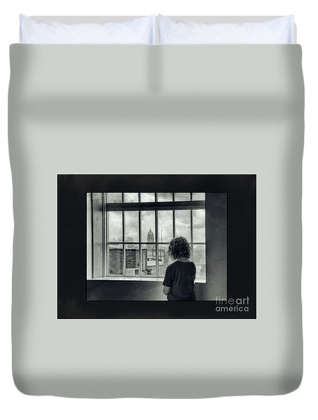 The World Outside My Window Number II  Duvet Cover by Laurinda Bowling