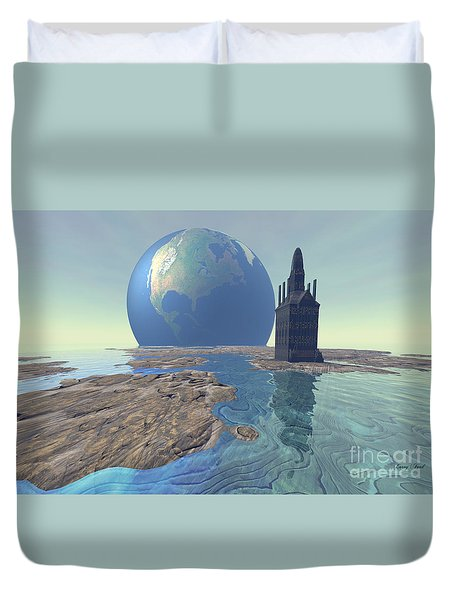 The World Turns Duvet Cover by Corey Ford