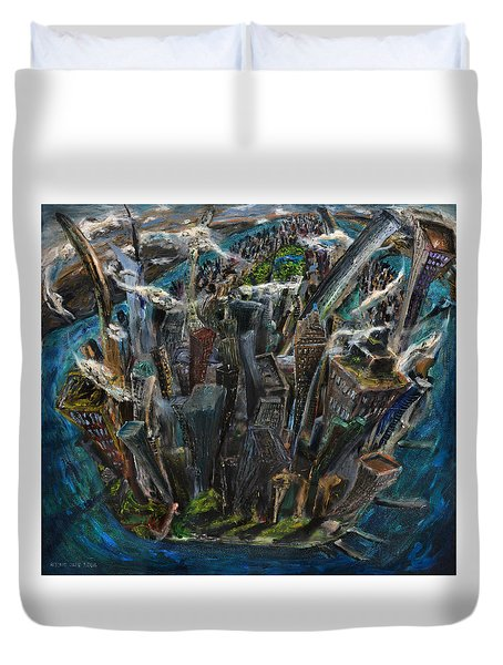 The Worlds Capital Duvet Cover by Antonio Ortiz