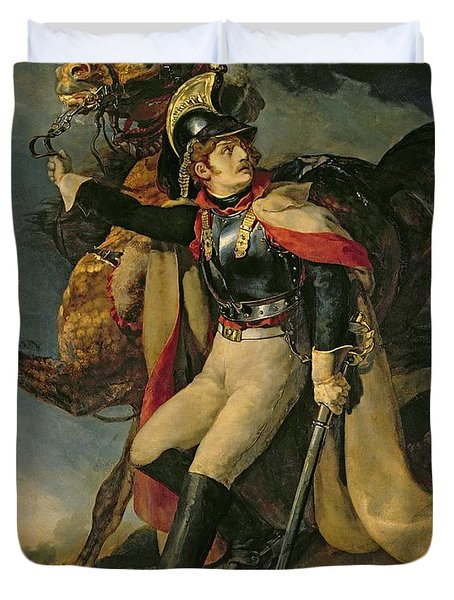 The Wounded Cuirassier Duvet Cover by Theodore Gericault