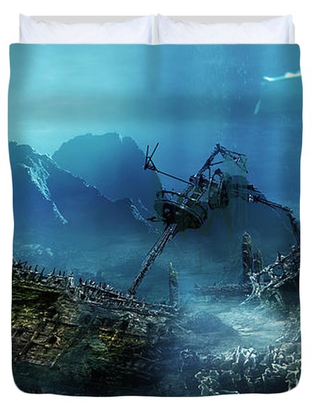 The Wreck Duvet Cover by Mary Hood