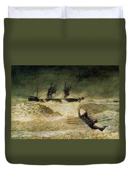 The Wreck Of The Iron Cloud, 1881 Duvet Cover