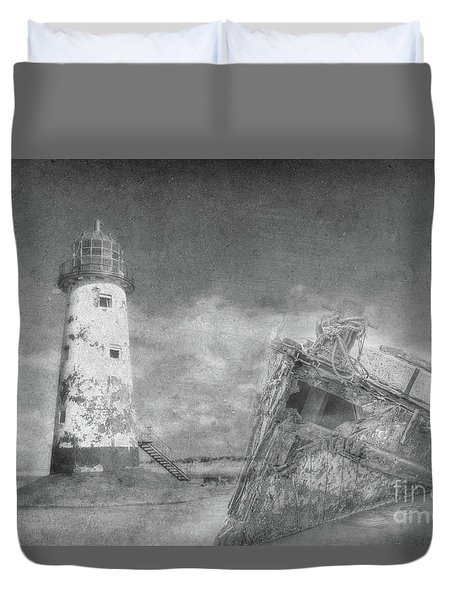 The Wrecks  Duvet Cover by Steev Stamford