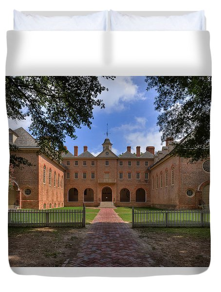The Wren Building At William And Mary Duvet Cover