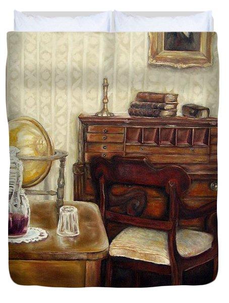 The Writing Room Duvet Cover