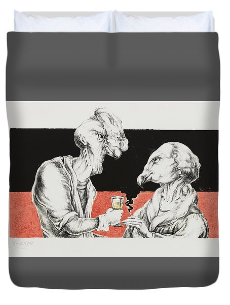 The Xs Duvet Cover by Yvonne Wright