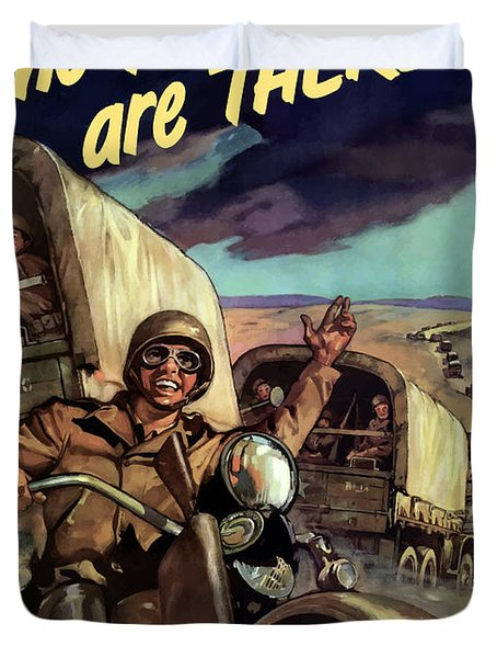 The Yanks Are There -- Ww2 Duvet Cover