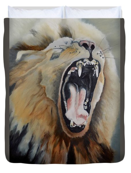 The Yawn Duvet Cover by Maris Sherwood