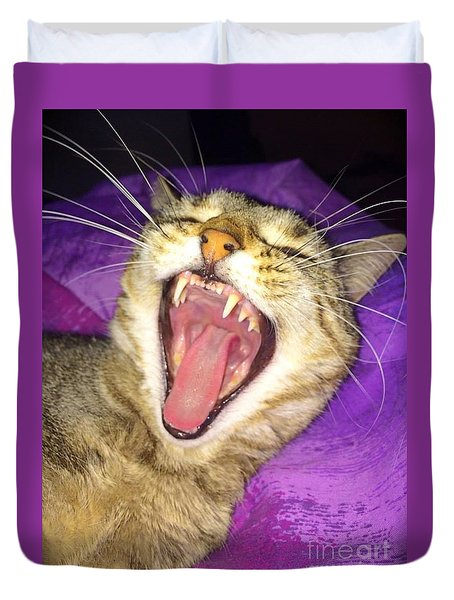 The Yawn Duvet Cover