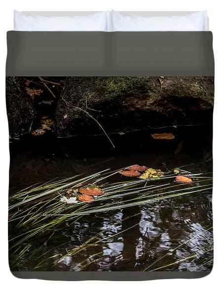 Duvet Cover featuring the photograph The Year Passes Gently by Odd Jeppesen