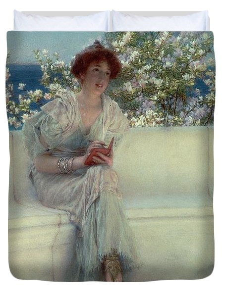 The Year's At The Spring -  All's Right With The World Duvet Cover by Sir Lawrence Alma-Tadema