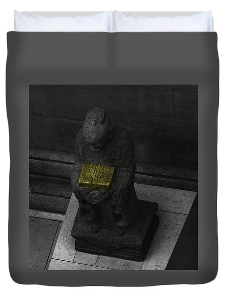 The Yellow Box Duvet Cover