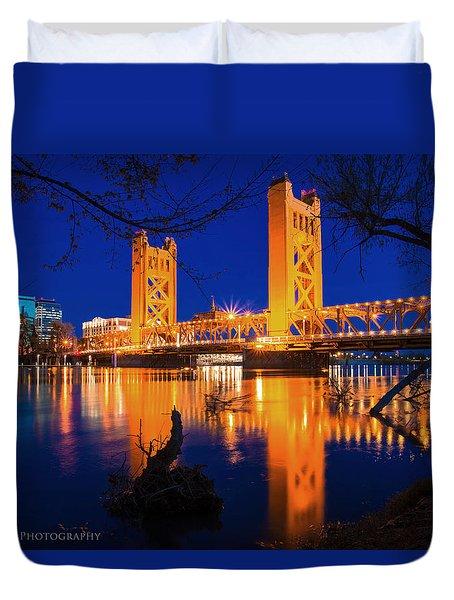 The Yellow Bridge  Duvet Cover
