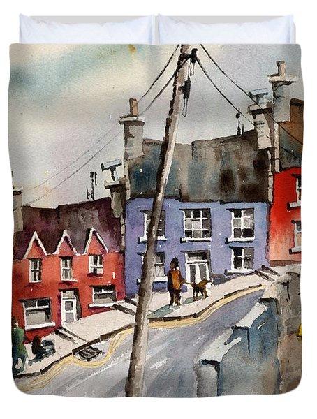 The Yellow Pump, Eyeries, Cork Duvet Cover