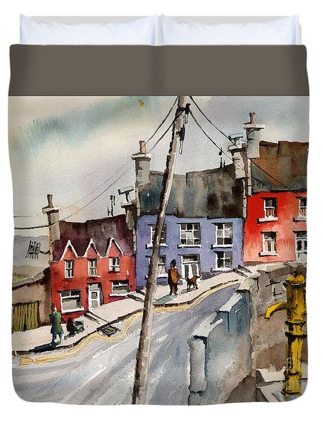 The Yellow Pump, Eyeries, Cork Duvet Cover