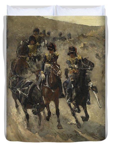 The Yellow Riders, George Hendrik Breitner, 1885 - 1886 Duvet Cover
