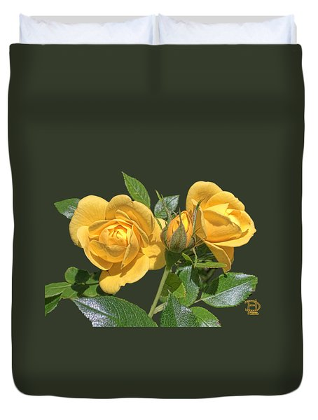 The Yellow Rose Family Duvet Cover