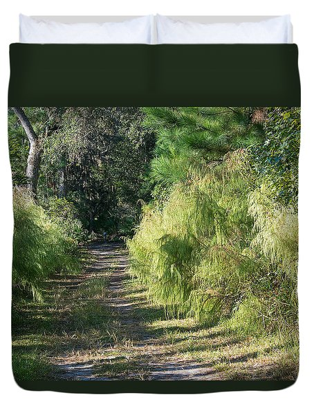 The Yellow Trail Duvet Cover by Kenneth Albin