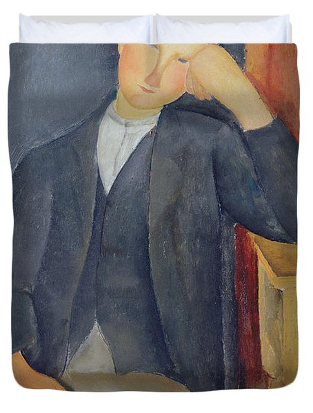 The Young Apprentice Duvet Cover by Amedeo Modigliani