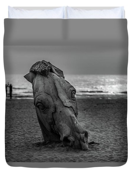 The Youth And The Horsehead Duvet Cover