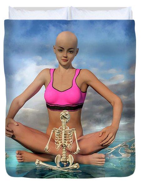 The Zen Girl Duvet Cover