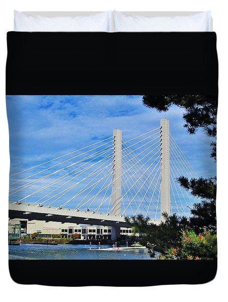 Thea Foss Bridge  Duvet Cover by Martin Cline